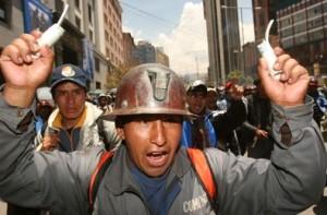 Evo Morales enfrenta la movilización de los mineros bolivianos