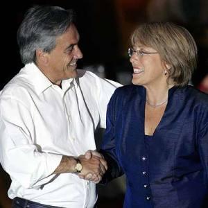 Piñera saluda a Bachelet