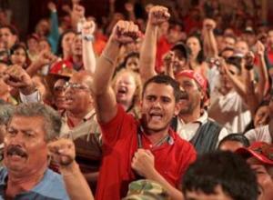 Miembros del PSUV se reúnen antes de las elecciones de septiembre.