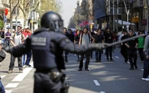 En Barcelona se vivieron duros enfrentamientos