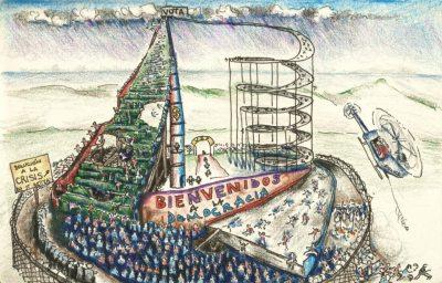 Las elecciones no cambian el sistema. Dibujo de Omar Iloy.