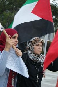 Protestan por Palestina