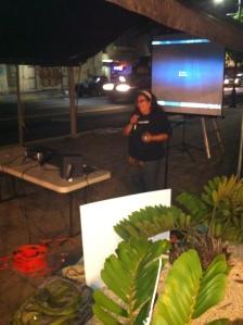 Elga García, trabajadora de la UTIER, habló durante la actividad.