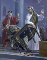 Jesús, expulsando a los mercaderes del templo