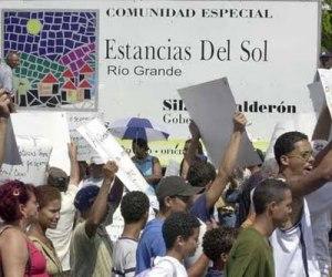 Protesta comunidades especiales