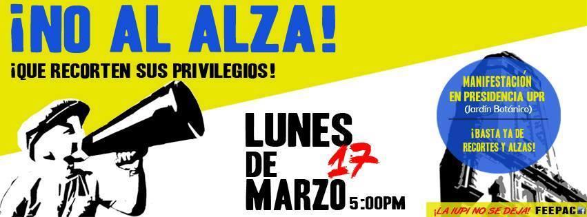 No al Alza en la UPR